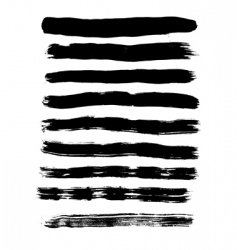 traces of brush vector image