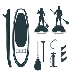 a stand up paddle board design elements vector image