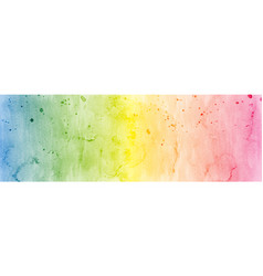 Abstract colorful rainbow stain watercolor vector