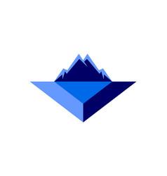 Abstract mountain arrow logo icon vector