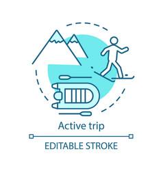 active trip concept icon vector image