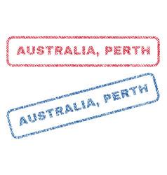 Australia perth textile stamps vector