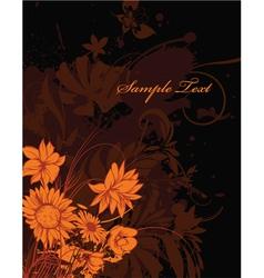 Autumn floral background vector