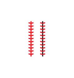 Baseball or softball ball stitch laces vector