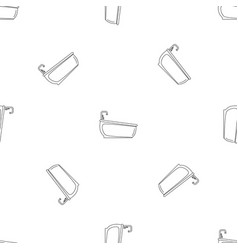 bathtube water tap pattern seamless vector image