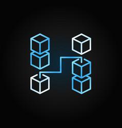 blockchain creative line icon concept vector image
