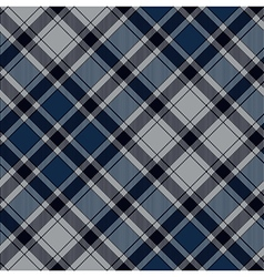 Blue diagonal check plaid seamless pattern vector