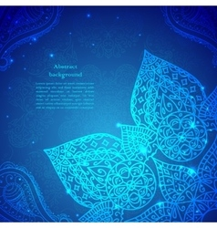 Blue Vintage Indian Ornament vector image vector image