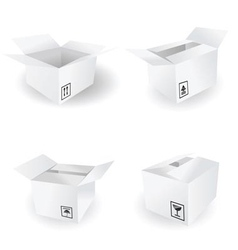 box icon and signs icons vector image