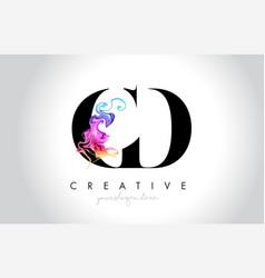 Cd vibrant creative leter logo design vector