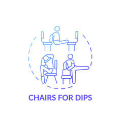 Chairs for dips concept icon vector