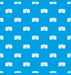 Chapel pattern seamless blue vector