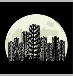 city moon vector image