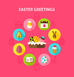 Concept easter greetings vector