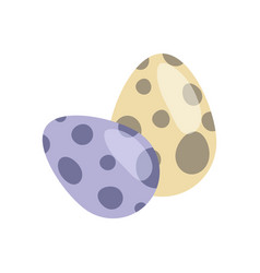dinosaur eggs collection vector image