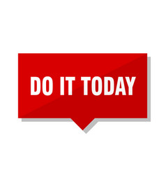 Do it today red tag vector