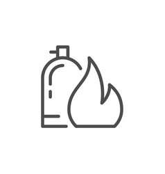 fire extinguisher line outline icon vector image