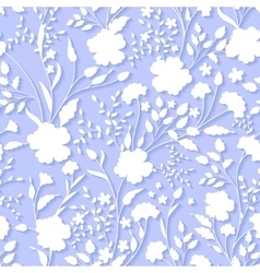 Floral 3d Seamless Pattern Background For vector