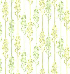 Floral pattern with spikelets vector image