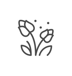 Flowers flowering line outline icon vector