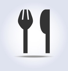 fork knife sign simple icon in gray colors vector image