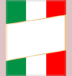 frame on the background of the italian flag vector image