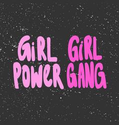 Girl power girl gang hand drawn vector