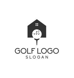 golf house logo design vector image