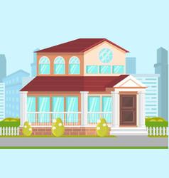government building facade vector image