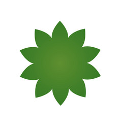 green flower icon pictograph of flower isolated vector image