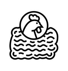 Ground chicken line icon vector
