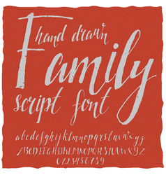 Hand drawn family poster vector