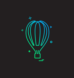 hot air balloon icon design vector image