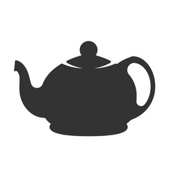icon of black kettle on white background vector image vector image