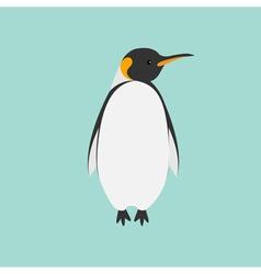 King Penguin Emperor Aptenodytes Patagonicus Flat vector