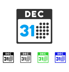 Last year day flat icon vector