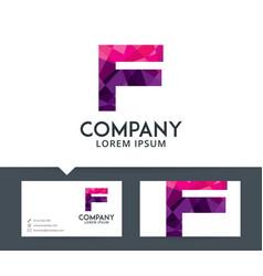 letter f - logo design vector image