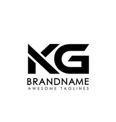 letters kg logo monogram vector image