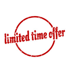 limited time offer sign limited time offer round vector image