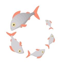 Loading process circular icon cartoon style vector