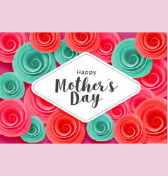 lovely mothers day flower banner vector image