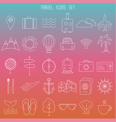modern thin line travel icons vector image