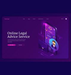 Online legal advice service banner vector