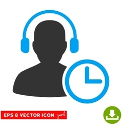 Operator Time Eps Icon vector