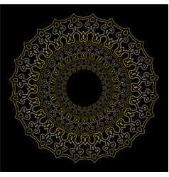 oriental golden geometric ornament lace filigree vector image