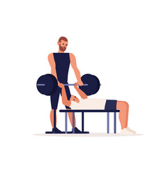personal sport trainer coach man training vector image