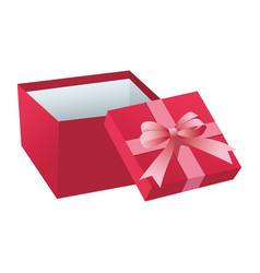 Pink giftbox open vector