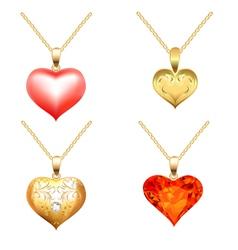 Precious jewels pendants vector