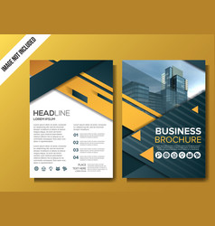Professional business brochure background template vector