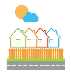 Real estate sale of property vector